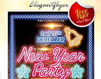 New Year Party – Flyer PSD Template + Facebook Cover