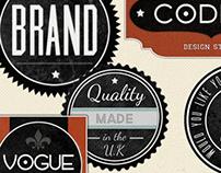 Retro Badges - Faded Vintage Labels