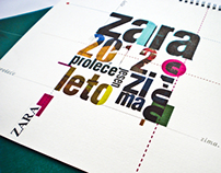 Calendar  ZARA 2012.