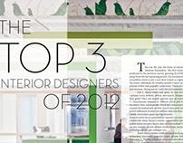 Interior Design Editorial Spread