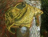 'maneken study' oil on paper