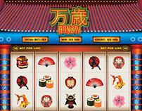 """""""Banzai"""" Slot Game Design"""