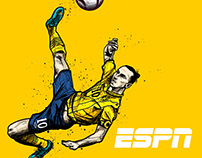 ESPN Zlatan Ibrahimovic illustrations