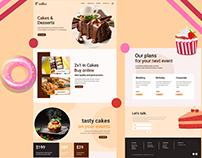 Cake Shop Web Design Landing Page - UI / UX