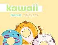 Kawaii Style Donut Characters