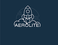 Aerolite - A rocketship themed logo