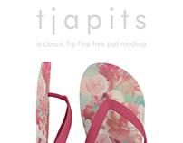 TJAPITS, a free flip flop psd mockup