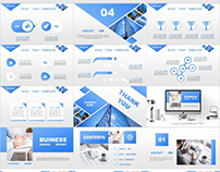 4 IN 1 BLUE ANNUAL REPORT POWERPOINT