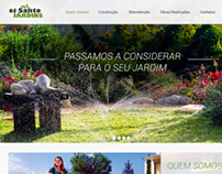 Website design for El Santo gardens