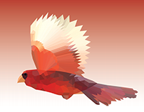 Low Poly Vector Cardinal