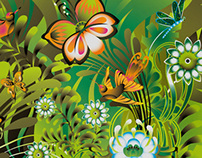 Illustration (pattern) - Paradise jungle