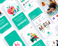 Caregiver Finder Mobile App UI Template