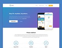 UI Design - Stayfyt Landing Page