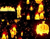 Burning Halloween - VJ Loop Pack (5in1)