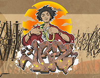 Run The Champloo - Illustration Collaboration