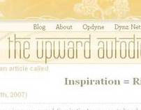 The Upward Autodidact - My Blog Design
