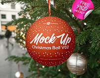 FREE CHRISTMAS BALL V02 MOCK-UP IN PSD