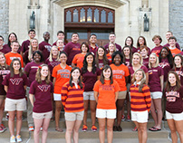 2012 Orientation Leaders at Virginia Tech - Portraits