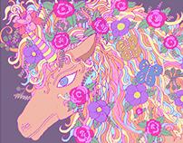Unicorn - Hand Drawn Digital Coloring