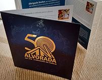 Folder Rádio Alvorada 50 anos - Show Pe Fábio de Melo