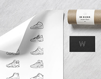 88 Kicks Sneaker Poster