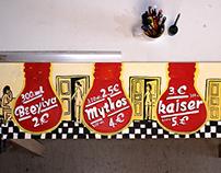 Handmade sign for Katinara bar