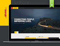 DHL Website ReDesign Concept (Fun Project)