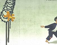 The Refugee Editorial Illustration