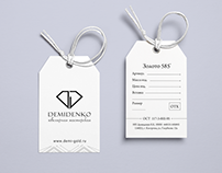 Разработка логотипа и бирки для ювелирной мастерской