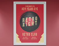 """Retro Night"" event poster design"