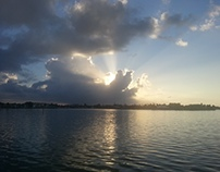 Sunrise Over Indian River in Fort Pierce, Florida