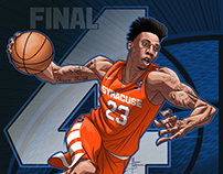 Syracuse Orange Men & Women 2016 Final Four art
