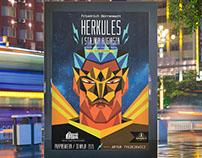 Herkules und der Stall des Augias / plakat spektaklu