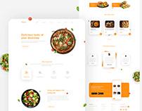 Food Webpage Design