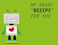 San valentine's day - Robot Postals