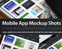 Dribbble Style Mobile App Mockups PSD