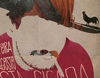 "Design Poster of ""festa cigana"" @ Clube Ferroviário"