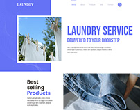 Laundry Cleaning Landing Page Design in 2020