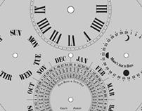 Calendario Orologio '800