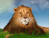 lion in vector