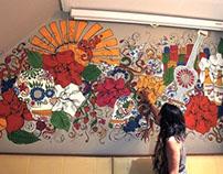 Sol Beer Mexican mural