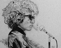 Bob Dylan pencil portrait