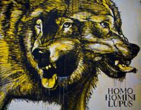 HOMO HOMINI LUPUS_Rems182 / Graffiti