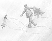 Newspaper Illustration / Drawing