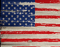 American Flags With Texture