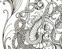 Psychedelic Ink Drawings