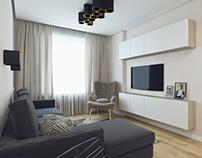 Дизайн-проект 1-о комнатной квартиры (39 кв.м.)
