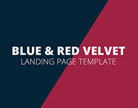 blue & red velvet LANDING PAGE TEMPLATE