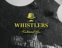 Whistlers Traditional Bar Branding
