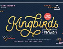 Kingbirds Monoline | Free Font